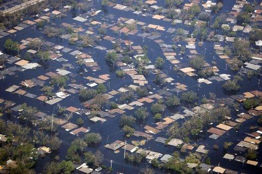 Nova Orleans debaixo d'água. Foto da  Wikipédia