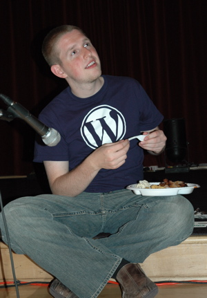 Matt Mullenweg during the conference WordCamp ...
