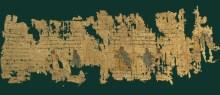 Foto: fragmento de papiro greco romano não identificado