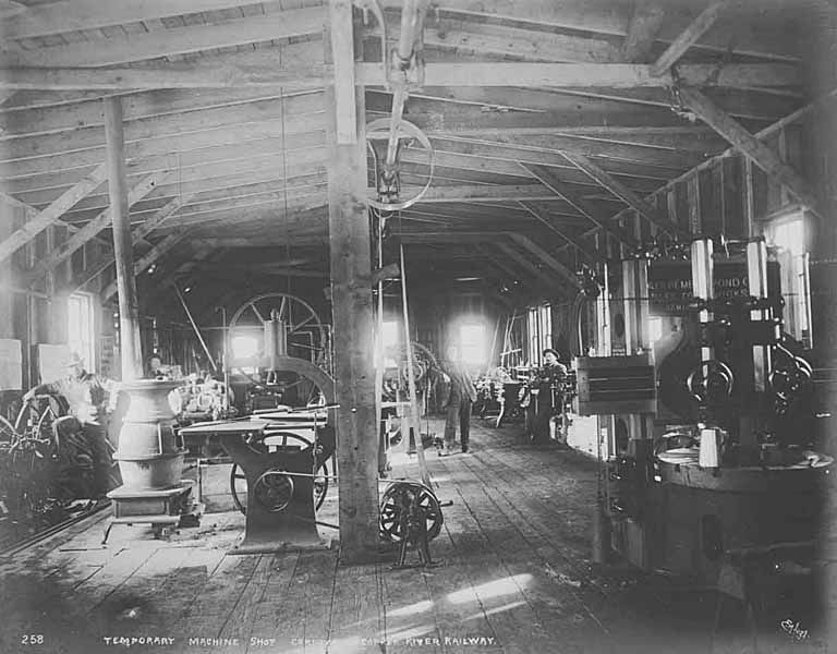 File Interior of temporary machine shop  Cordova  1908  HEGG 745     File Interior of temporary machine shop  Cordova  1908  HEGG 745