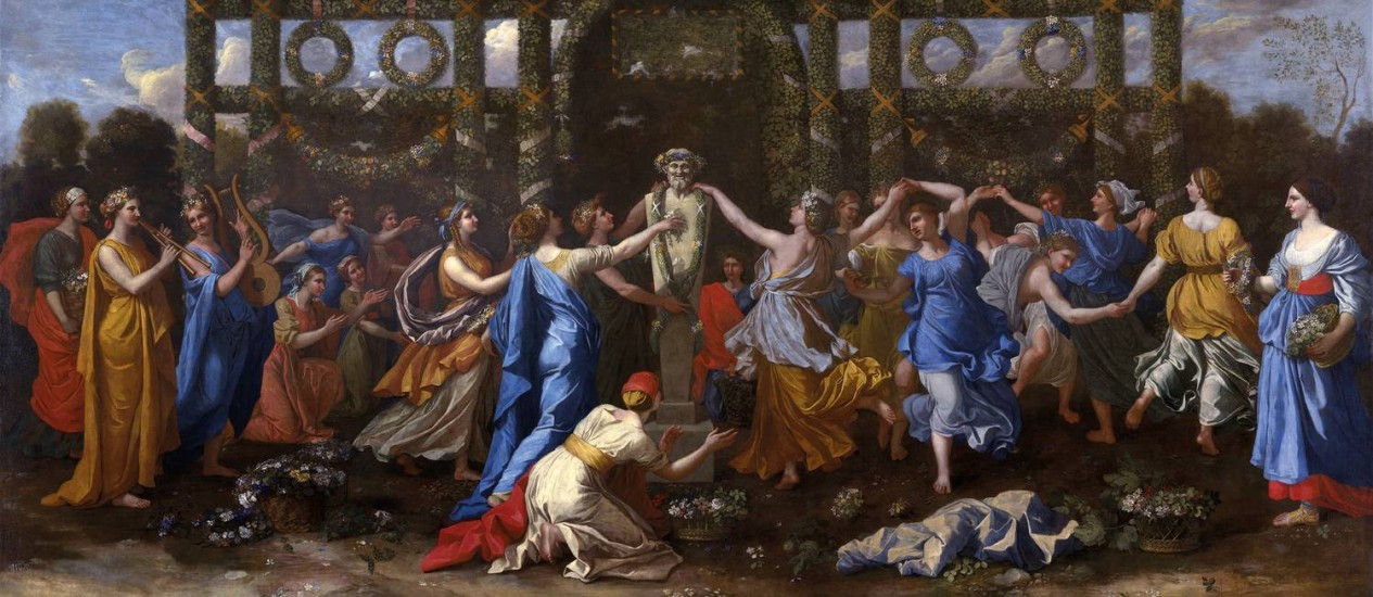 Poussin, Hymenaios Disguised As A Woman During An Offering To Priapus
