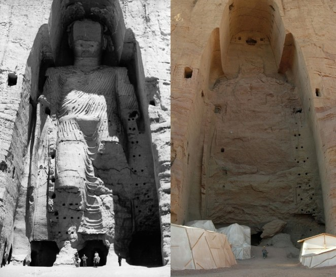 File:Taller Buddha of Bamiyan before and after destruction.jpg ...