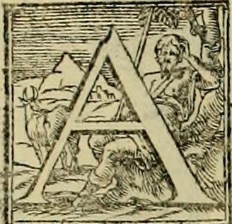 Lettrine A edtion 1570 Venise I quattro libri ...