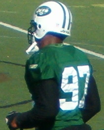 English: Calvin Pace during practice
