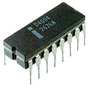 Italiano: Primo microprocessore Intel, l'Intel...