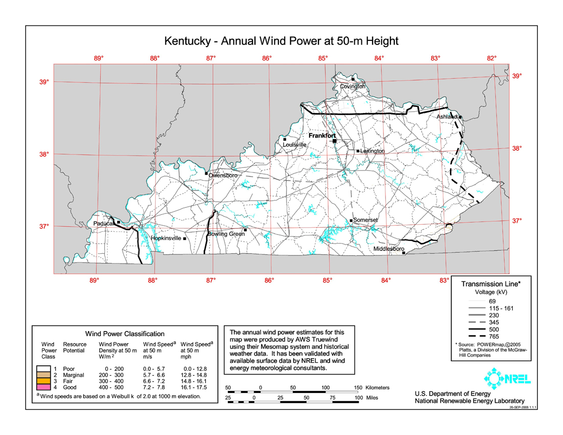 Wind Power In Kentucky