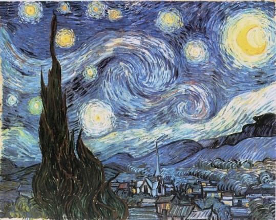 Resultado de imagen para la noche estrellada de van gogh