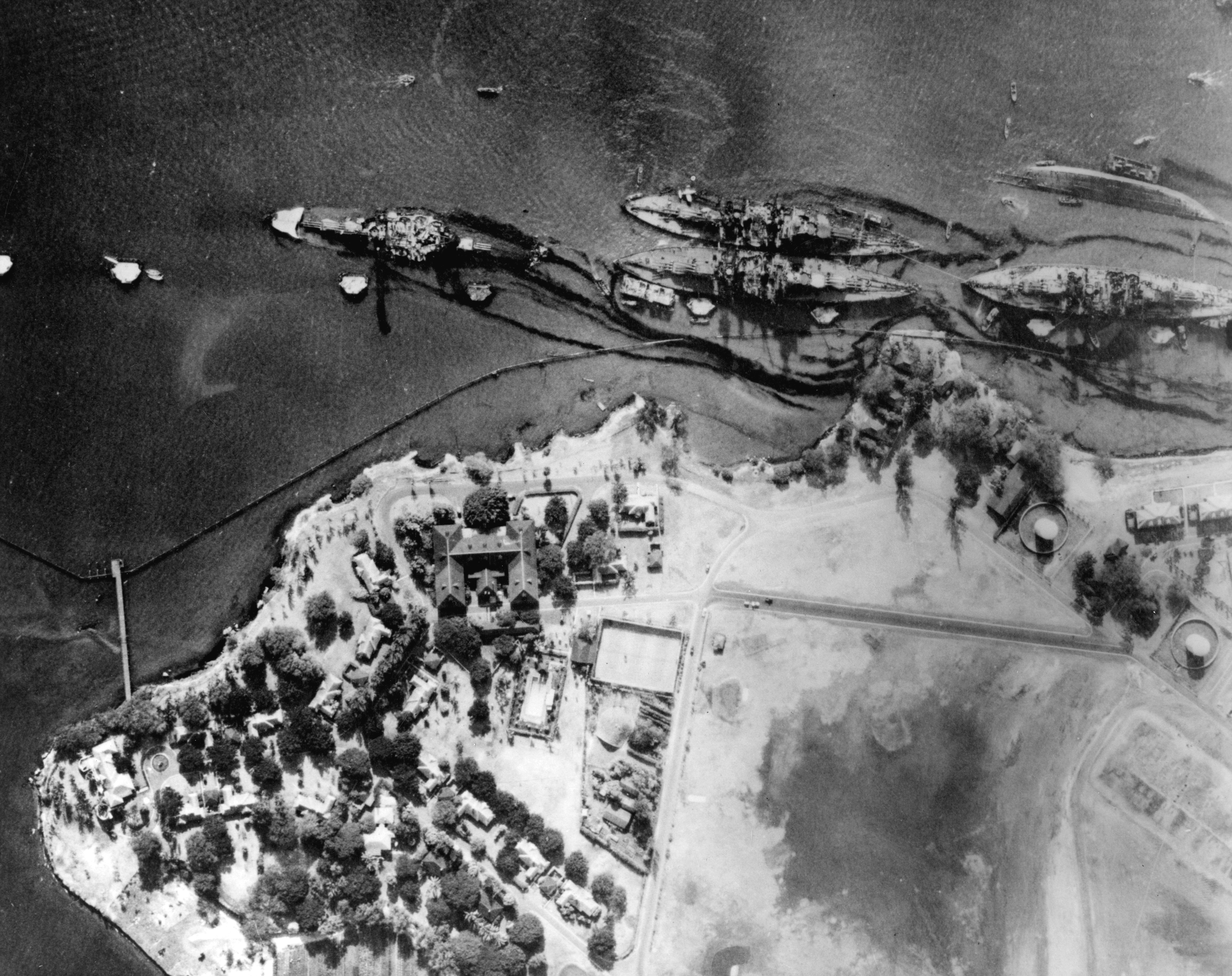Some Pearl Harbour Aerial And Salvage Pics