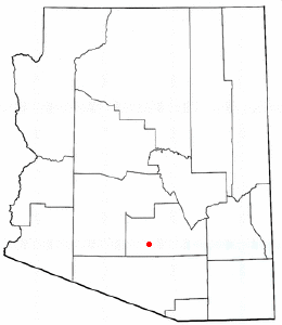 Adapted from Wikipedia's AZ county maps by Catbar.
