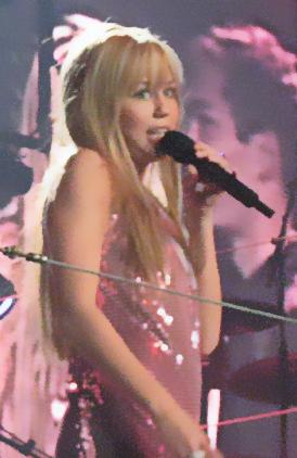 English: Hannah Montana aka Miley Cyrus on the...