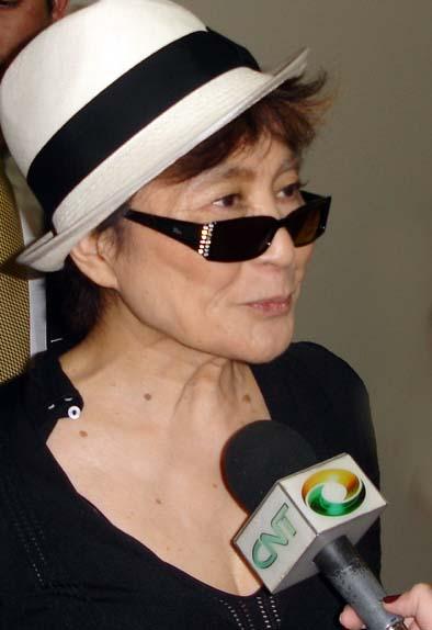 Yoko Ono on Wikipedia Commons