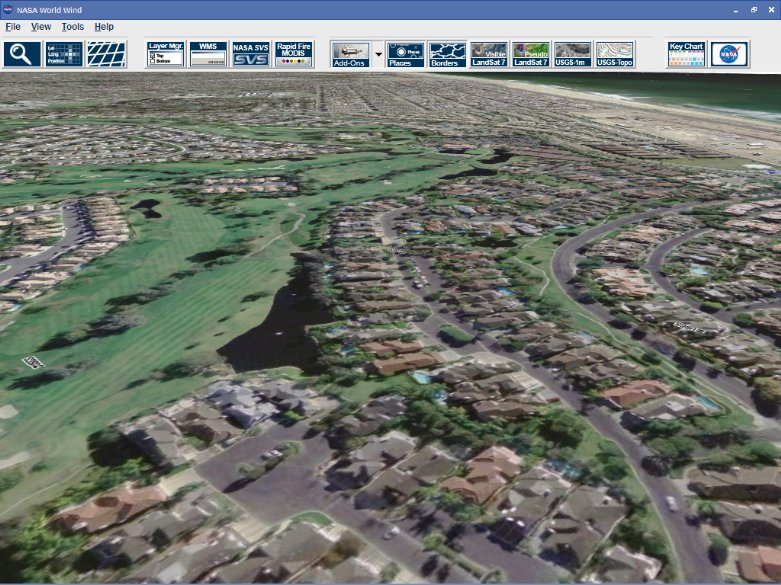 NASA World Wind (open source) is a second generation applet[6] that makes heavy use of OpenGL and on-demand data downloading to provide a detailed 3D map of the world.