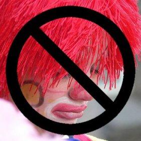 No clowns allowed. Based on http://flickr.com/...