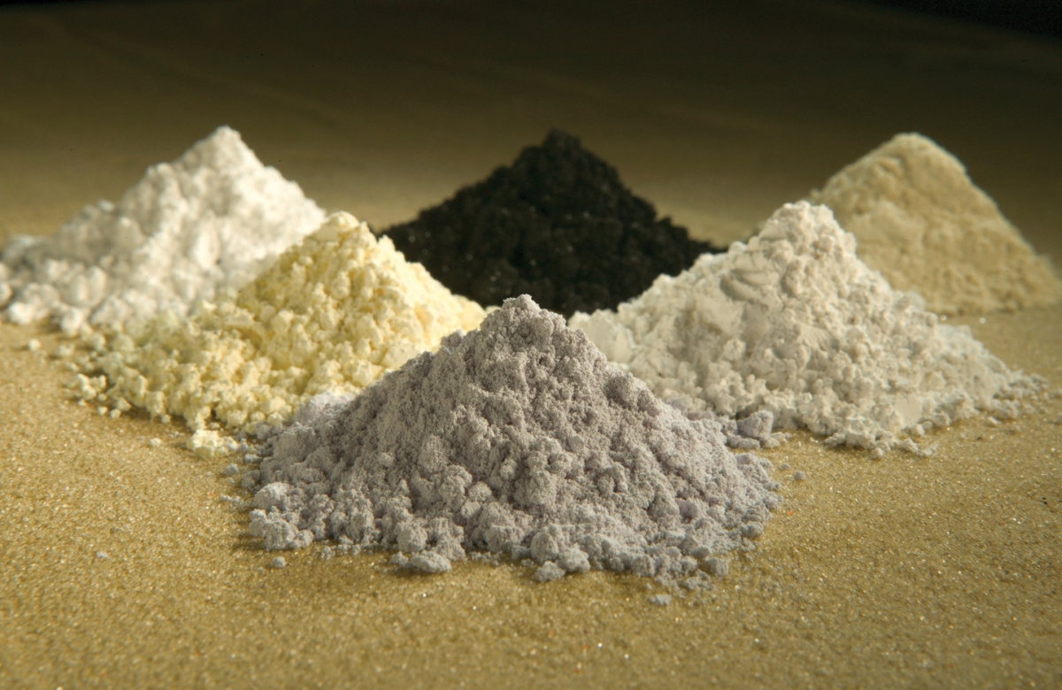 Image of some rare earth oxides
