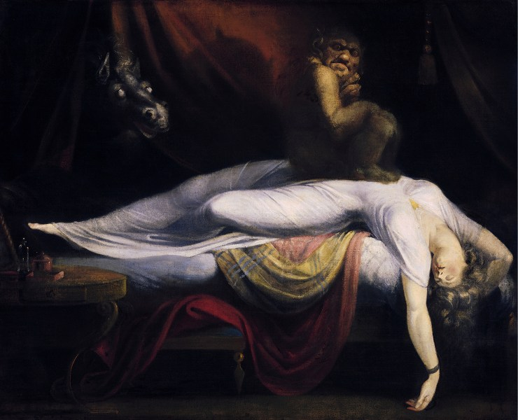 Night hag   Wikipedia The Nightmare  by Henry Fuseli  1781  is thought to be one of the classic  depictions of sleep paralysis perceived as a demonic visitation