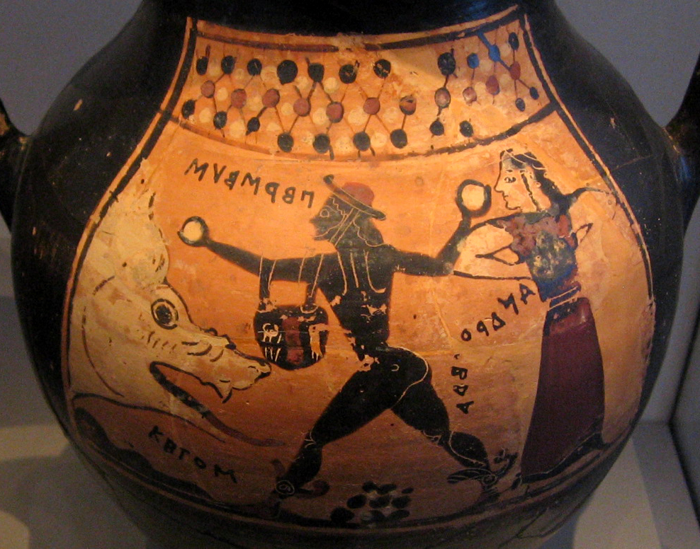 Image result for Ancient Greek vase monsters