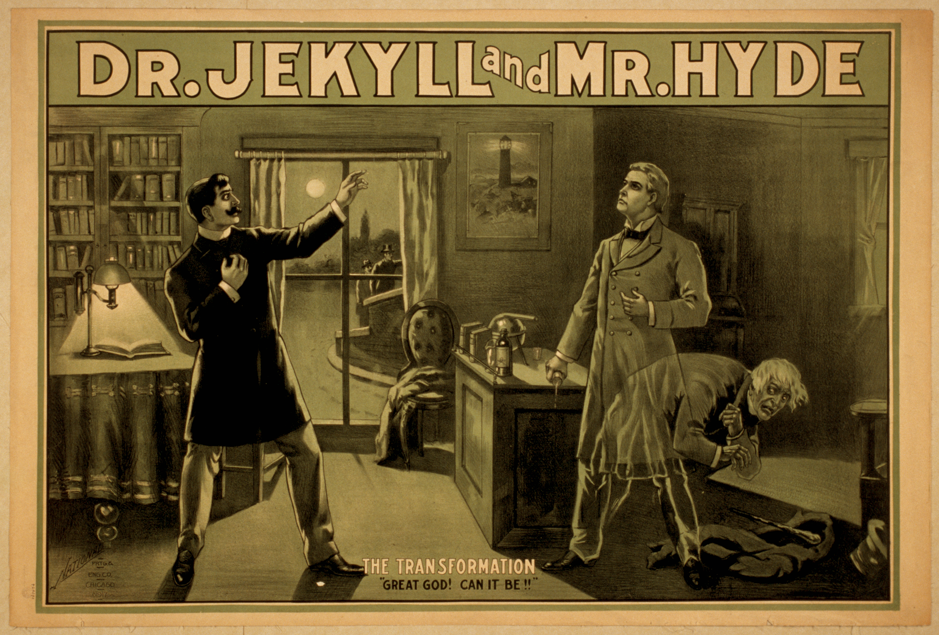 An early poster of Dr. Jekyll and Mr. Hyde
