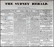 Cover of the first edition of the Sydney Morni...