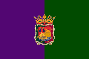 Flag of Malaga, Spain