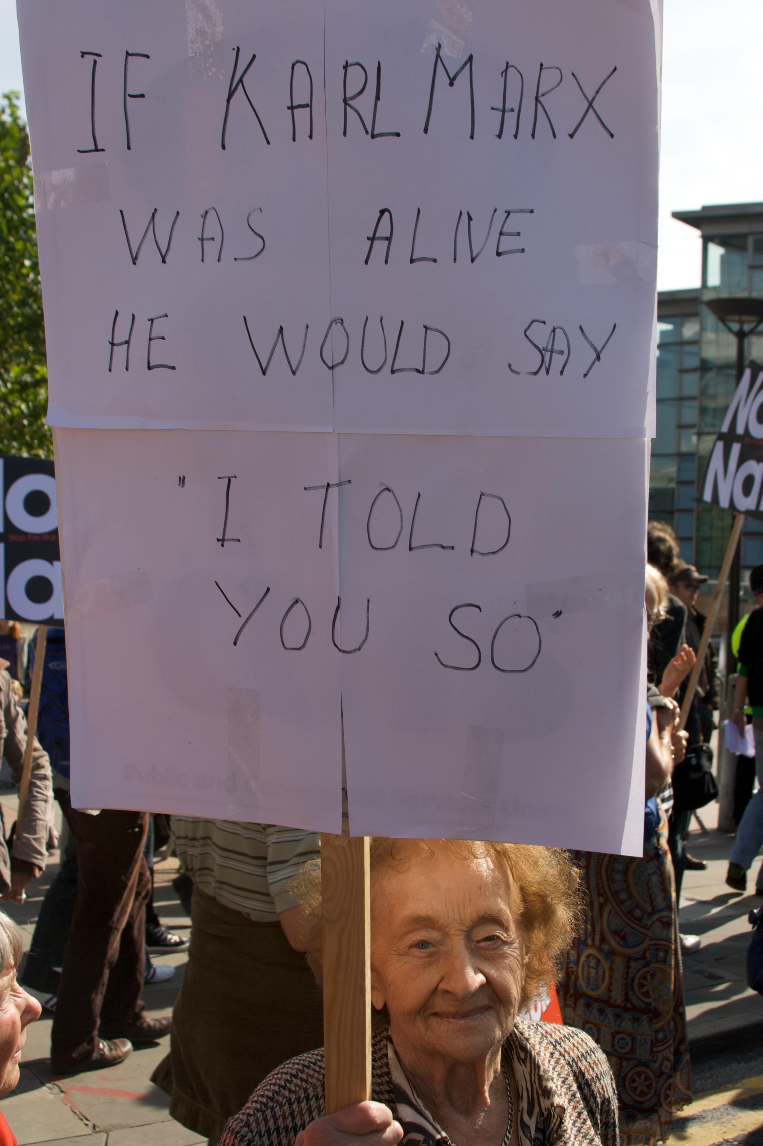 Economic crisis protest