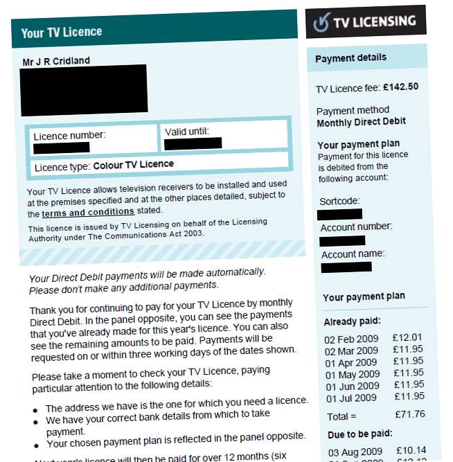 television licensing in the united