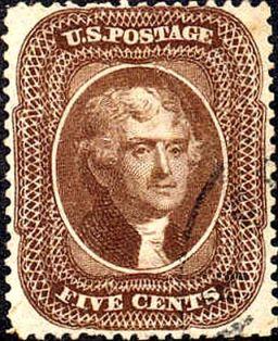 Thomas Jefferson 1856 Issue-5c