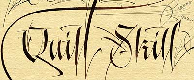 Western calligraphy from wikipedia