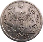 1 Gulden (Freie Stadt Danzig 1923) Reversum