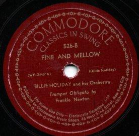 Label of a Commodore Records 78 record by Bill...