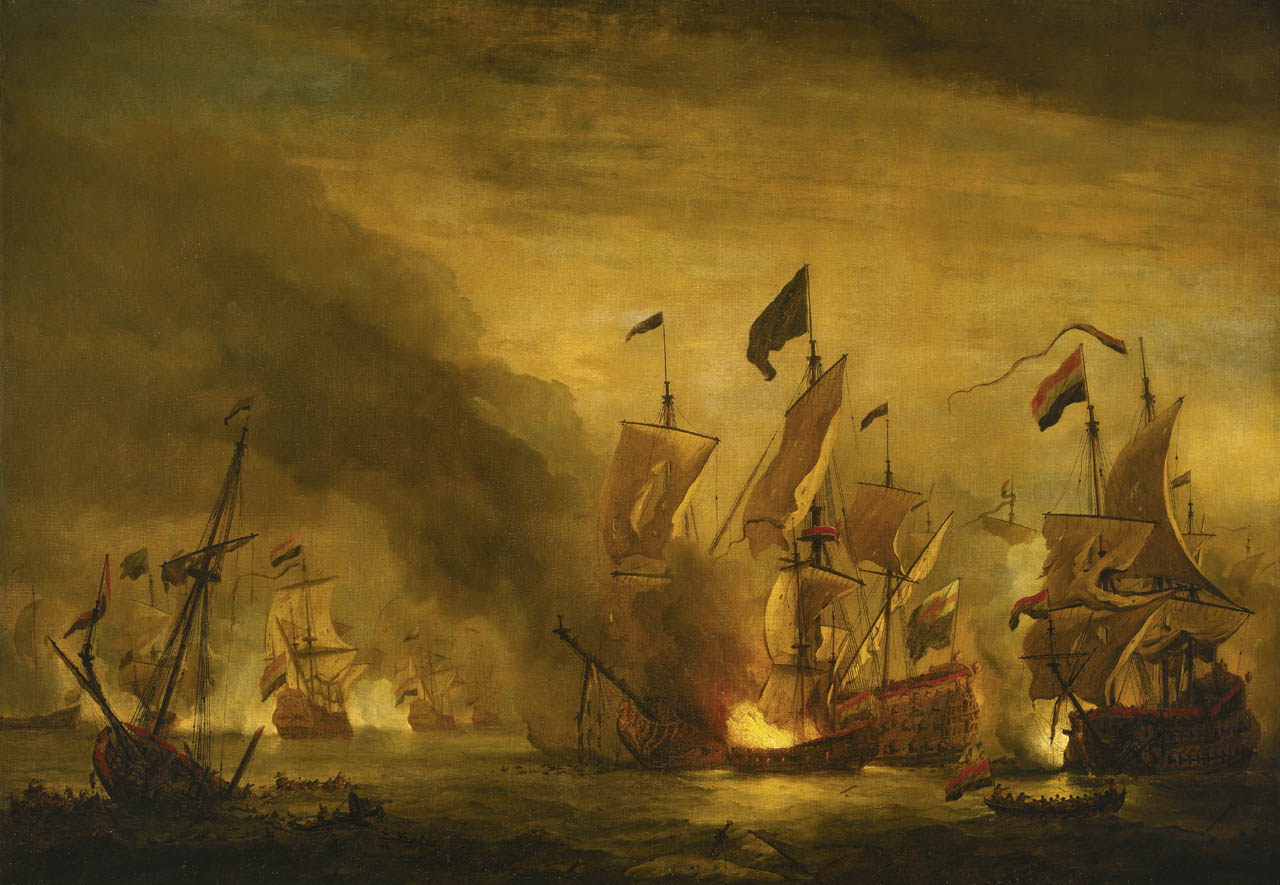 Fire ships at Battle of Solebay