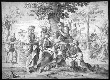 Sócrates y sus estudiantes, por Johann Friedrich Greuter