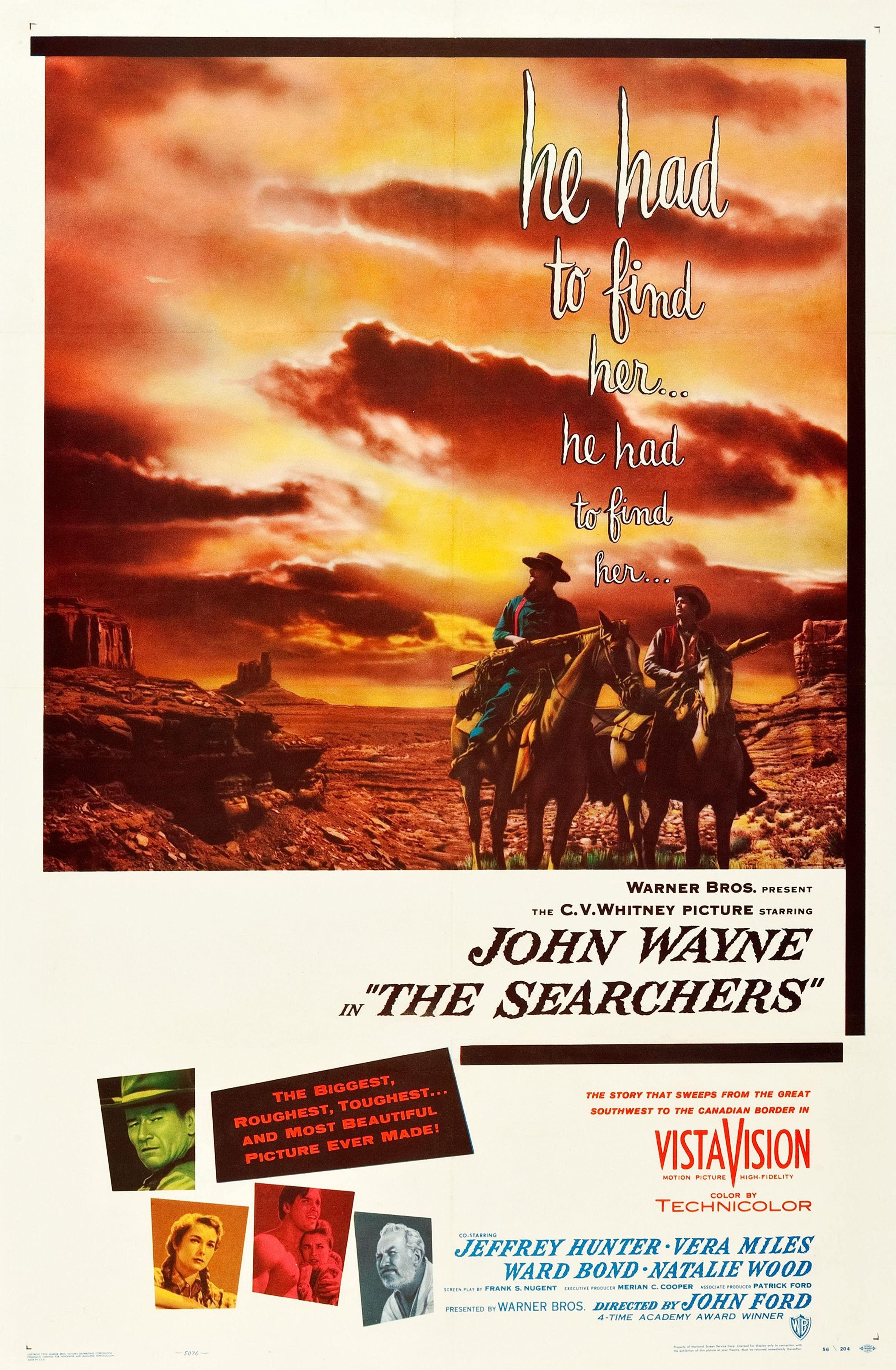 Pòster en anglès del film Centaures del Desert, on es veu els dos protagonistes del film a cavall, recorrent el desert.