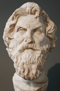 Antisthenes, founder of the Cynic school.