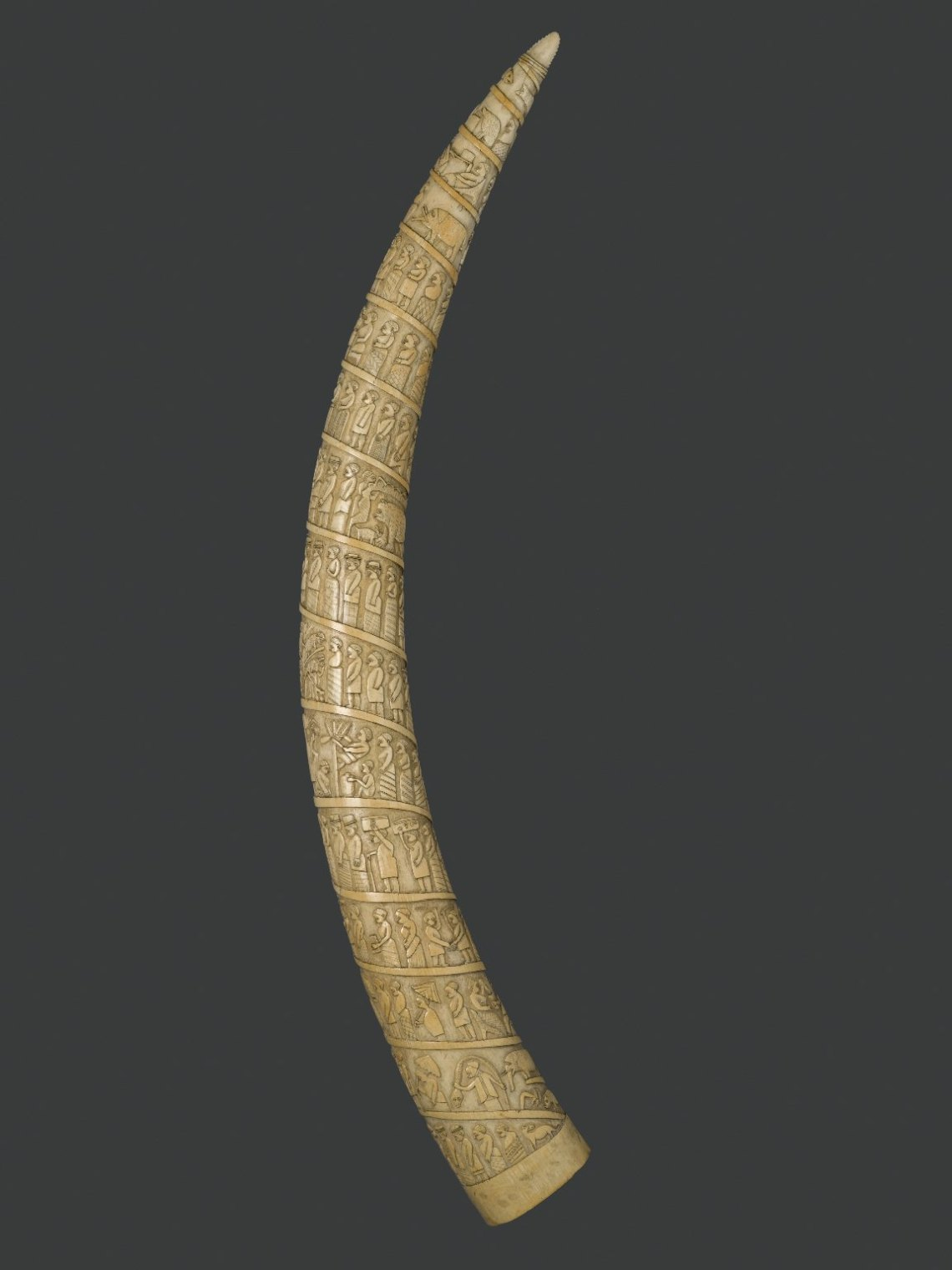 Brooklyn Museum 35.679 Elephant Tusk Carved with Figures in Relief (2) Long Blouses To Wear With Leggings