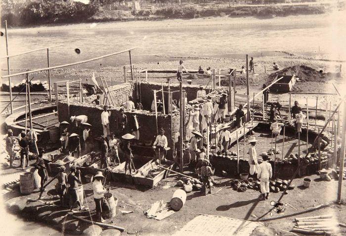pembuatan fondasi jembatan