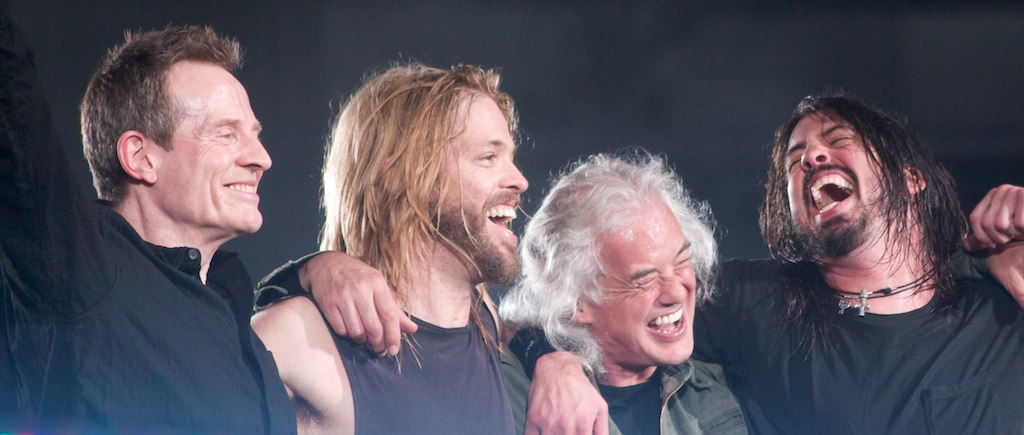 File Foo Fighters With John Paul Jones And Jimmy Page