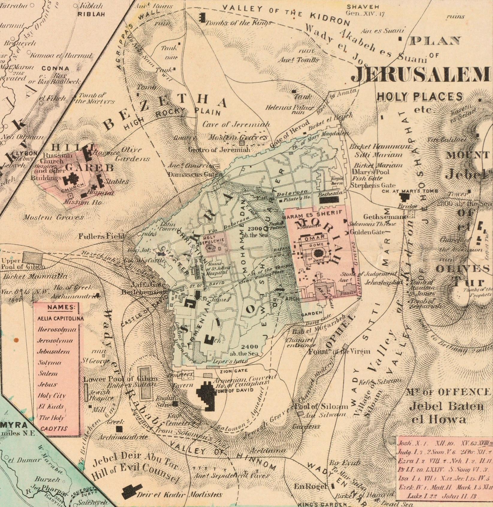File Jerusalem Rawson A L Map Of Palestine And All Bible Lands