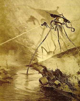 English: Alien tripod illustration by Alvim Co...