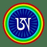 Animated symbol of buddism Dzogchen; White A.
