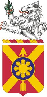English: 163rd field artillery coat of arms