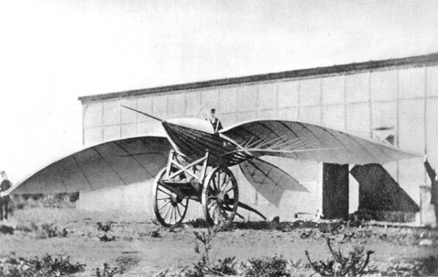 Early flying machines   Wikipedia Jean Marie Le Bris and his flying machine  Albatros II  1868