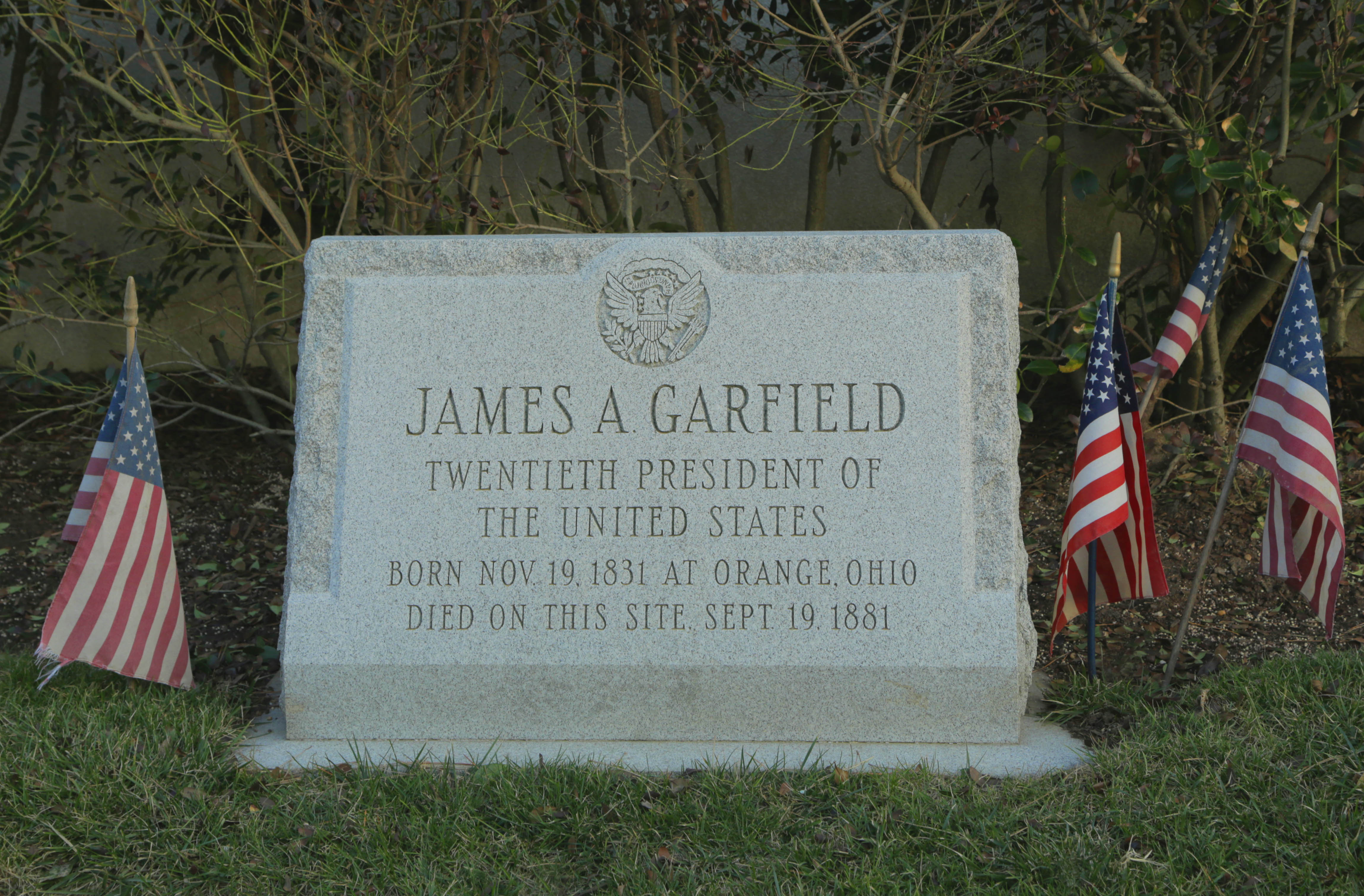 File Site Marker Located At Site Of James A