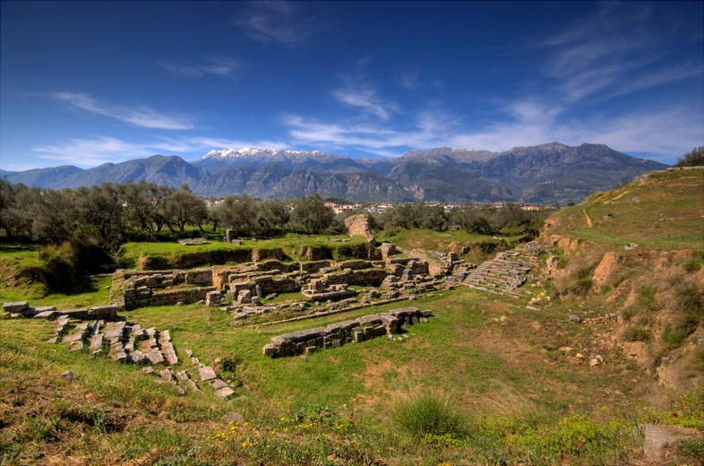 The ancient theater of Sparta.