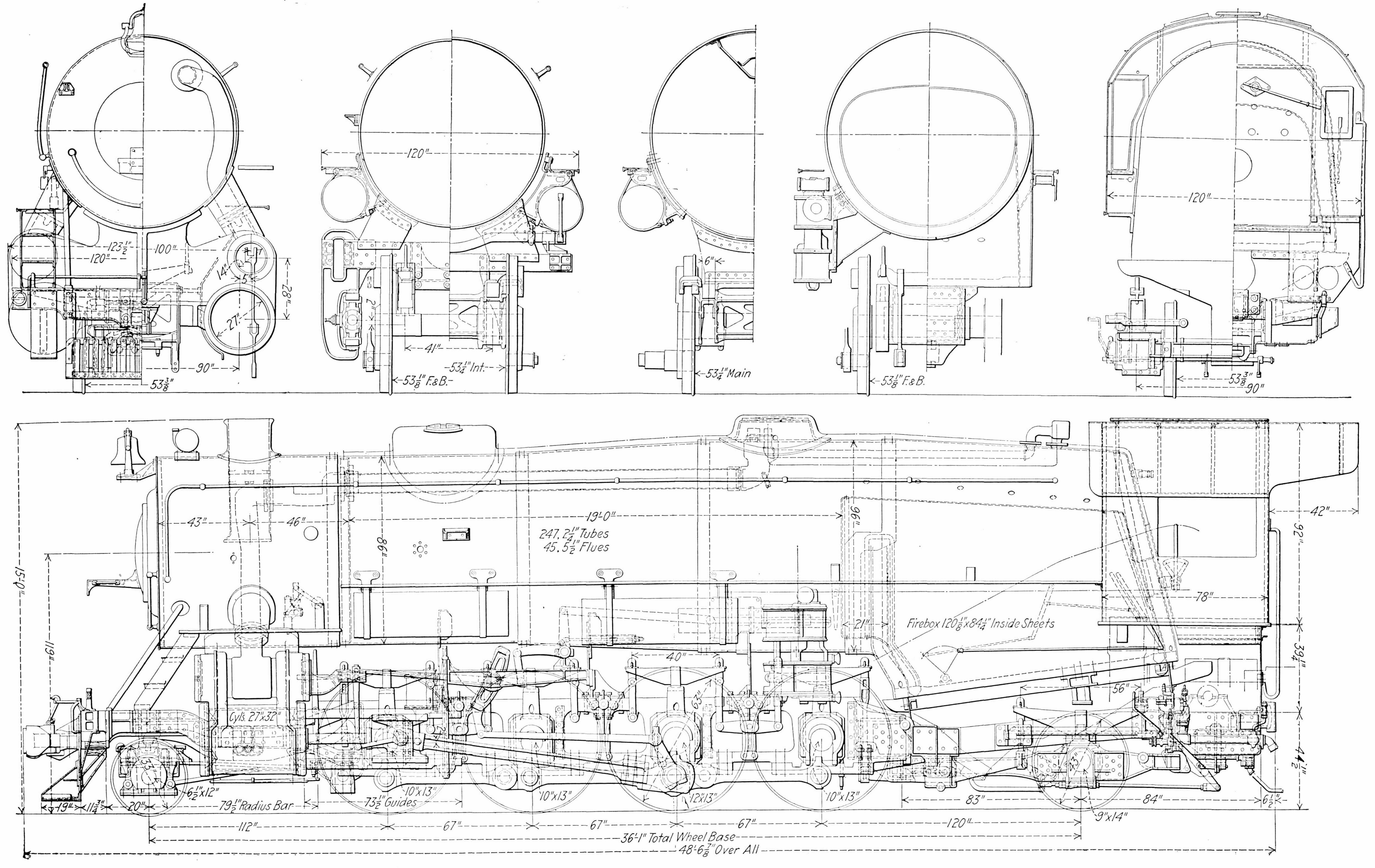 Free Steam Locomotive Drawings