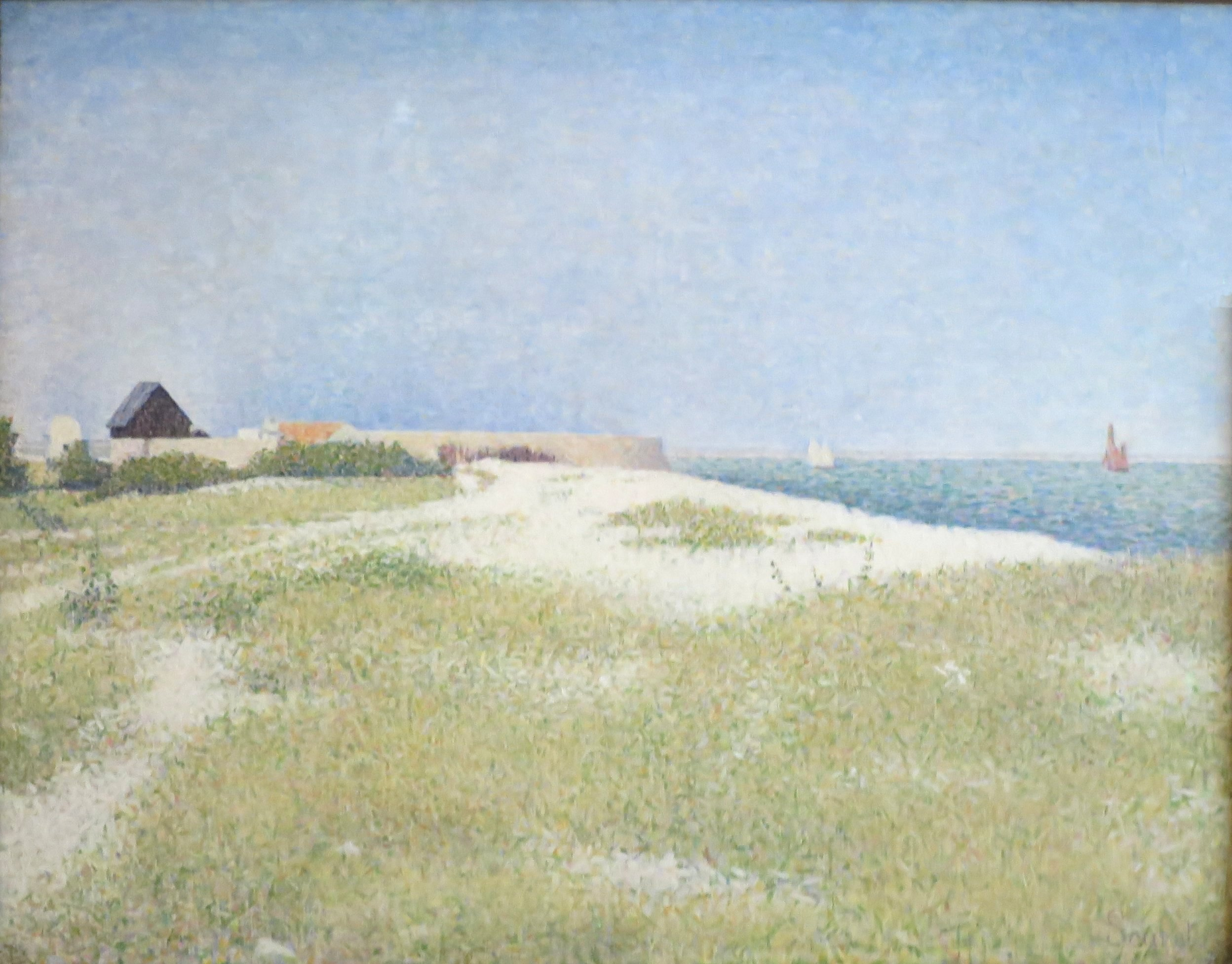 File:Georges Seurat - View of Fort Samson.jpg