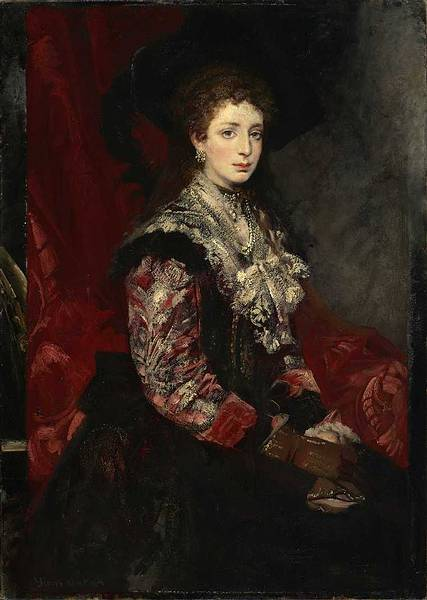 Portrait of Clothilde Beer by Hans Makart, 1878 (Wikimedia Commons)