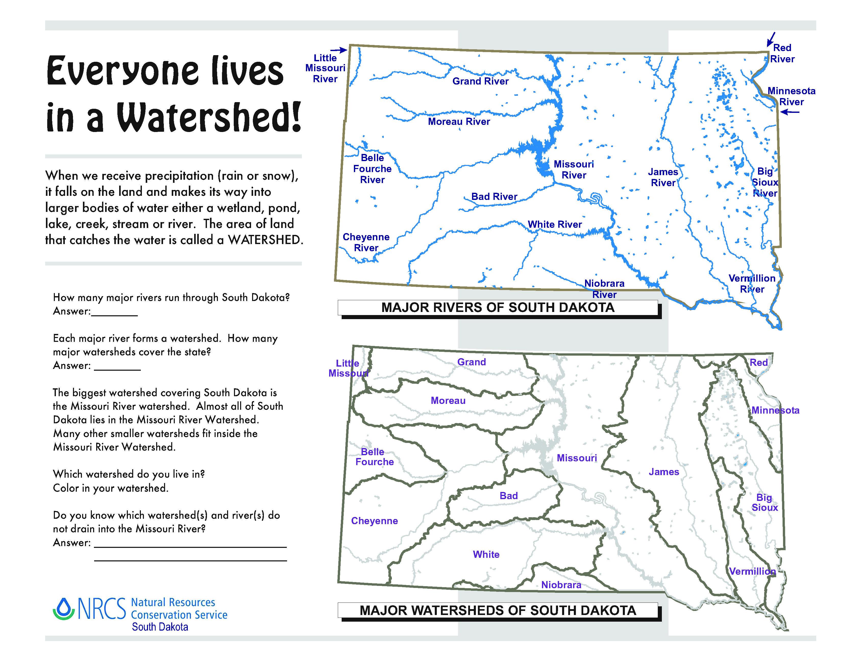 File South Dakota Watersheds Worksheet