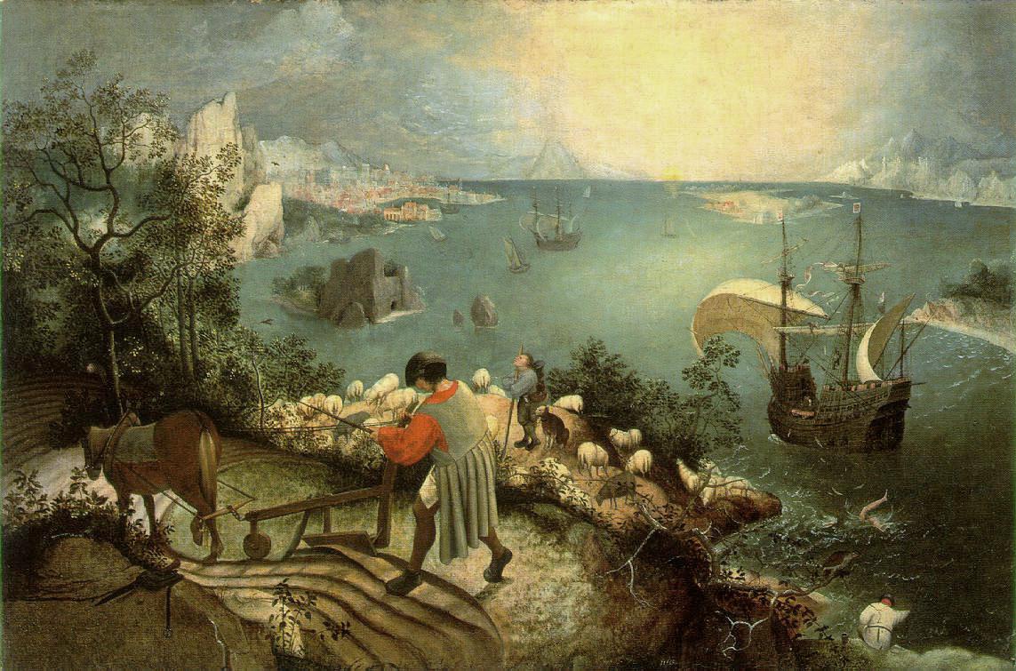 Paisatge amb la caiguda dÍcar, de Pieter Brueghel el Vell