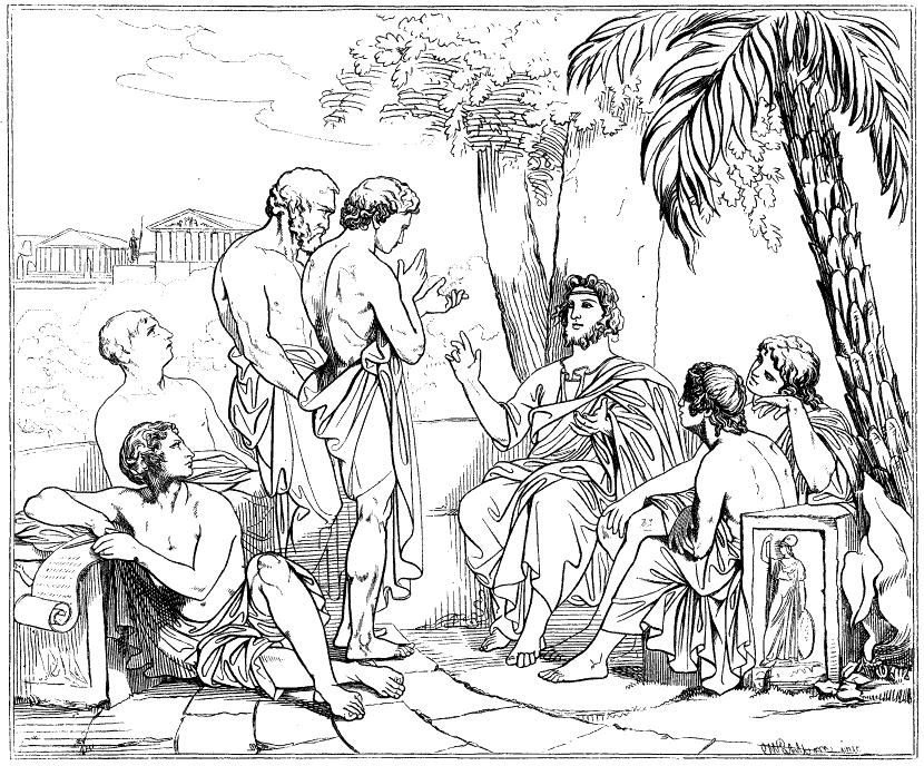 Կարլ Յոհան Վալբոմի նկարից արված գծանկար