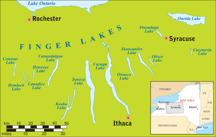 Die Finger Lake Region